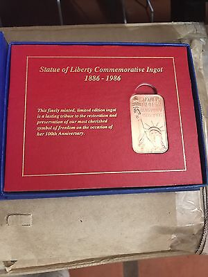 Statue Of Liberty 100Th Anniversary Commemorative Ingot Copper Numbered