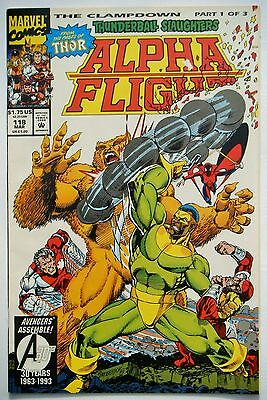 Alpha Flight #118 (Mar. 93') VF+ (8.5) vs Thunderball/ Broderick Art