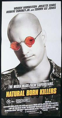 NATURAL BORN KILLERS 1994 Woody Harrelson Australian Daybill Movie Poster