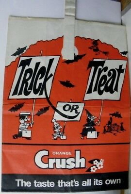 1960s Orange Crush The Taste That's All It's Own Halloween Trick or Treat Bag