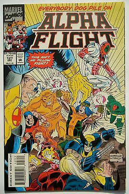 Alpha Flight #127 (Dec. 93') VF+ NM- (9.0) Weapon Omega vs Wolverine in Back-up