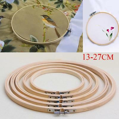 """Bamboo Wooden Embroidery Cross Stitch Machine Hoop Ring 5"""" 6.7"""" 8"""" 9"""" 10.5"""" ED"""