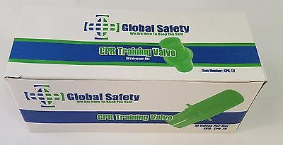 10 Pk CPR Training Mask One Way Valve Global Safety Unwrapped New Free Shipping