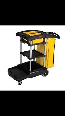 rubbermaid high capacity janitorial cart