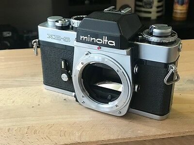 MINOLTA XE-5 35mm CAMERA / BODY ONLY/ IN WORKING CONDITION.