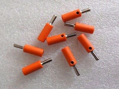 Lot of 8 vintage solder-less banana plugs, great for speakers