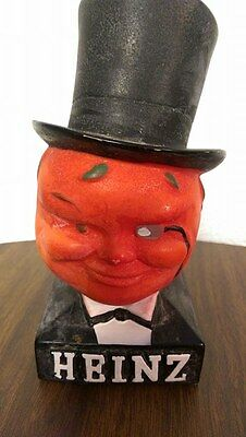 "HEINZ Tomato Head Top Hat Figural Advertising Display 6"" Rare Vintage Antique"