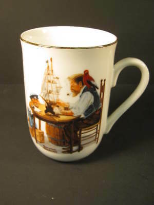 """""""For a Good Boy"""" Norman Rockwell Collector Coffee Cup"""