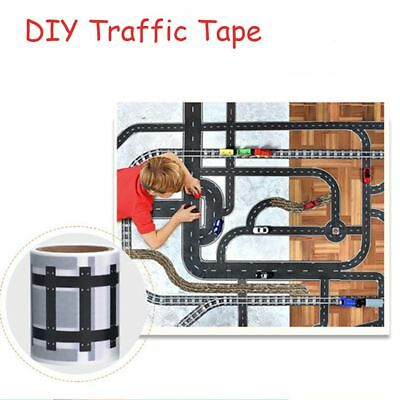 New Kids Road Play Tape for Toy Car Track Adhesive Tapes Roll Floor Sticker Boys