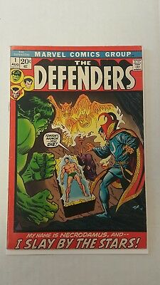 The Defenders #1 (1972, Marvel), FN-,  First solo title appearance, Bronze Key