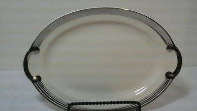 "Vintage Taylor Smith & Taylor Silver Platinum Ring  Premier 11-3/4"" Platter And"
