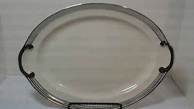"Vintage Taylor Smith & Taylor Silver Platinum Ring  Premier 15-5/8"" Platter And"