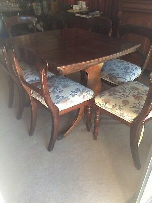 Antique Extendable Dining Table And Chairs