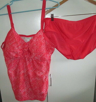 Vintage Ladies Millers Size 20 Two Piece Swimmers Swim Wear Padded Bust