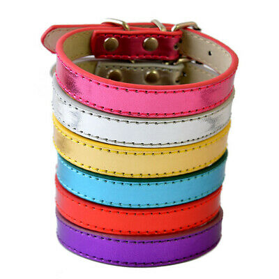 Puppy Dog Whelping Collars 10 Colours PU Leather Small Sized or Puppies Strong