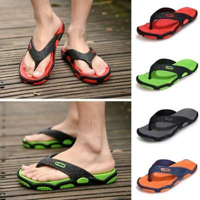 1Pair Men Casual Shoes Beach Sandals Thong Slippers Flip Flop For Indoor Outdoor