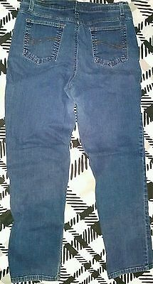 "CHARTER CLUB Jeans - SZ 14 WOMEN'S - (32"" X 30.5"") - MED. WASH-STRAIGHT LEG-NICE"