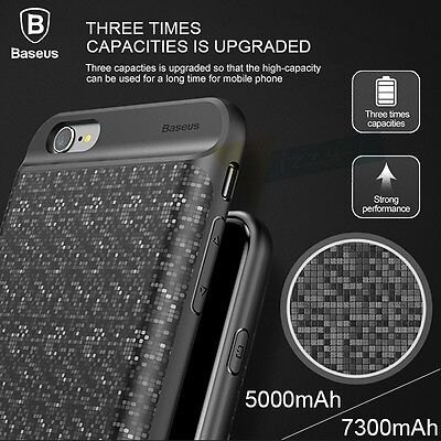 Extended Battery Pack Power Bank Charger Battery Case For iPhone 6 6S 7 8 Plus