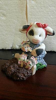 """Enesco Mary's Moo Moos """"Sowing The Seeds Of Friendship"""" figurine - 207004~1996"""