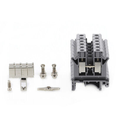 4PCS UK-10N DIN Rail Mount Guide Terminal Block 800V 76A 10mm2 Cable Gray CE