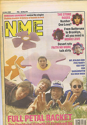 FLOWERED UP / STONE ROSES / FAITH NO MORE	NME	 		14	July	1990