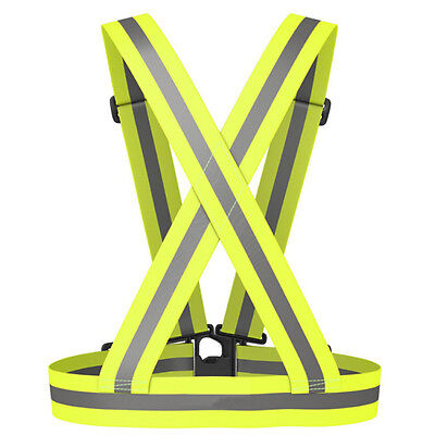 Adjustable High Visible Safety Security Reflective Vest Jacket Night Running New