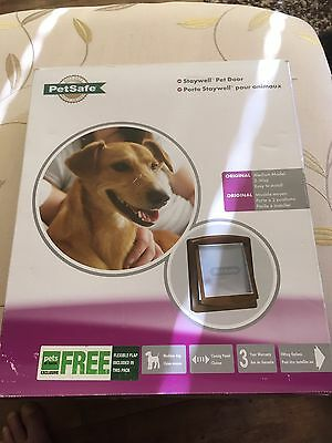 Staywell Dog / Large Cat Flap. Brown Bargain.