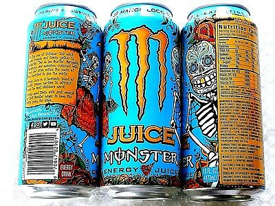 2X 2017 NEW FULL MONSTER ENERGY MANGO LOCO JUICE 16 Oz CANS LIMITED RELEASE