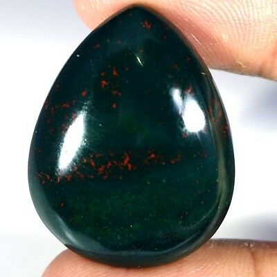 45.60cts NATURAL EXCLUSIVE DESIGNER BLOOD STONE PEAR CABOCHON FINE TOP GEMSTONE