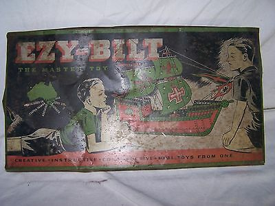 Vintage Meccano Ezy Bilt The Master Toy Construction Building Metal Toy Erector