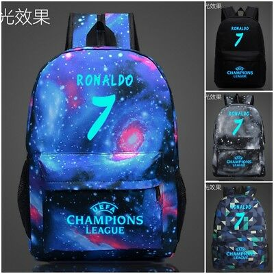 Ronaldo Real Madrid 7 Canvas Bag Rucksack luminous Backpack School Shouler Bag