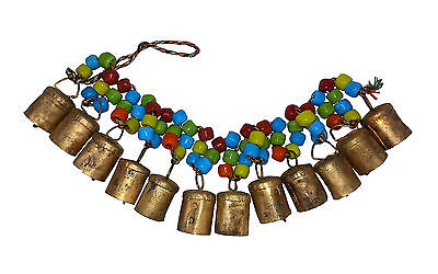 """SALE"" Chime/Hanging 12 Cow Bells w Coloured Beads, Positive Energy & Prosperity"