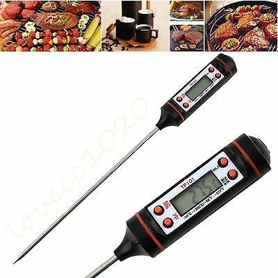 Digital Cooking Food Probe Meat Kitchen BBQ Selectable Sensor Thermometer LE