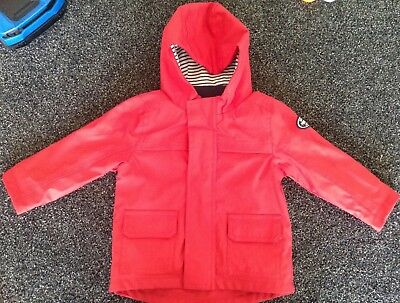 Baby Boy Shower Proof Rain Coat Jacket Age 9-12 Months