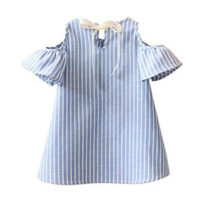 AU Summer Toddler Newborn Baby Kids Girl Off Shoulder T-Shirt Tops Blouse Dress