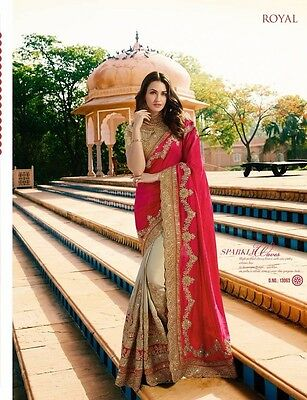 Wedding Wear Indian Bride Pakistani Bollywood Designer Saree Sari Lehenga Heavy