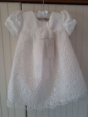 Heritage Christening Gown, Guipure Lace. Age 6-12months.
