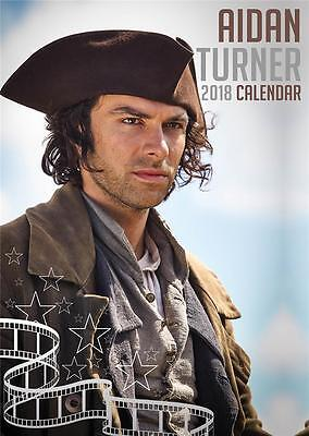 Aidan Turner Poldark 2018 Calendar Large Uk  Wall By Oc + Free Uk Postage !!