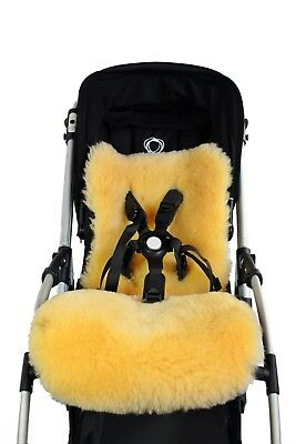 Natural 100% Sheepskin Baby Buggy Bugaboo Bee 5 Liner Mat Tanned Lamb Skin