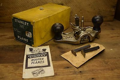 Vintage Stanley Boxed N0 71 Open Throat Router Woodworking Old