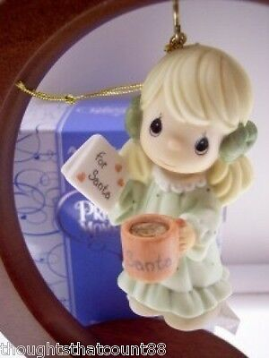 Precious Moments Ornament WARM HOLIDAY WISH 810031 NIB * FREE 1ST CLASS USA SHIP