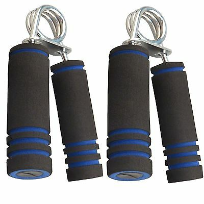 2 UK Quality Hand Foam Gripper Fore Arm Exercise Wrist Fitness Grips Black Blue