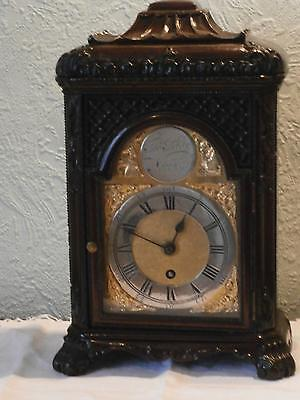 Rosewood Carved Bracket Clock by Thos. Page of Norwich