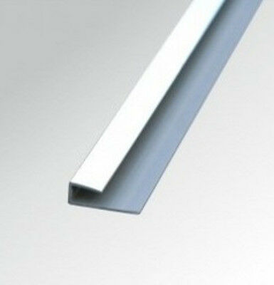 10mm CHROME PVC END CAP TRIM for Shower Wall Panels Wet Wall Cladding Boards