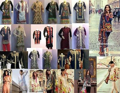 Ladies Pakistani 3 piece Shalwar Kameez suit Stitched Readymade Lawn Designer