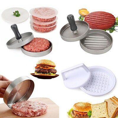 Hamburger Press Burger Meat Grinder Barbecue BBQ Grill Patty Mold Maker Tool