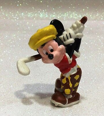 Disney Topolino Mickey Mouse Golfer Applause Figura In Gomma