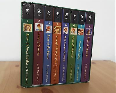 ANNE OF GREEN GABLES Collector VINTAGE Complete 8 books by L.M. Montgomery Set