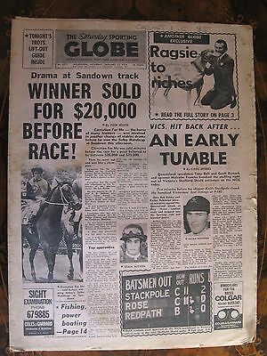 Sporting Globe    JAN 12 1974  Paul Cauchi Carnation For Me
