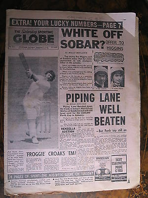 Sporting Globe DEC 9 1972 Sobar Caulfield Cup Rod Marsh